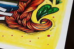 Kresby - Slečna rastlinkárka - originál - 10873011_