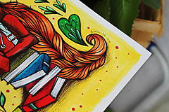 Kresby - Slečna rastlinkárka - originál - 10873013_