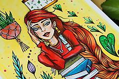 Kresby - Slečna rastlinkárka - originál - 10873014_