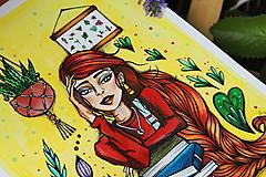 Kresby - Slečna rastlinkárka - originál - 10873016_