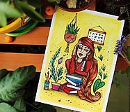 Kresby - Slečna rastlinkárka - originál - 10873025_