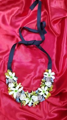 Náhrdelníky - Jemný kvetinový náhrdelník - 10874033_
