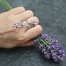 Prstene - Levanduľa - prsteň - 10873525_