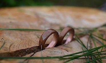Prstene - Drevený prsteň- prírodný sľub - 10874745_