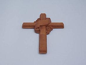 Dekorácie - Drevený krížik - 10874772_
