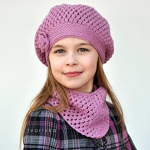 Úžasná čiapka a šatka ~ háčkovaná súprava