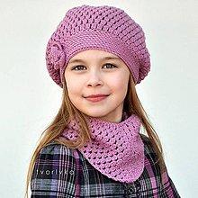 Detské súpravy - Úžasná čiapka a šatka ~ háčkovaná súprava - 10874766_