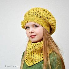 Detské súpravy - Úžasná čiapka a šatka ~ háčkovaný set - 10874770_