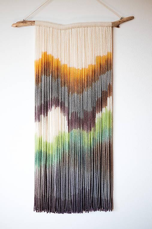 """Dekorácie - Nástenná dekorácia z dreva a vlny """"Lávové pole na Poľane"""" - 10873287_"""