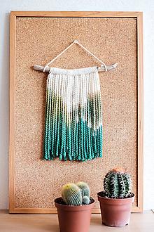 Dekorácie - Nástenná dekorácia z dreva a vlny ♥ MINI 04 - 10874300_