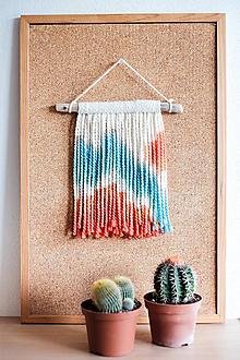 Dekorácie - Nástenná dekorácia z dreva a vlny ♥ MINI 05 - 10874309_