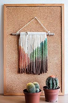 Dekorácie - Nástenná dekorácia z dreva a vlny ♥ MINI 06 - 10874314_