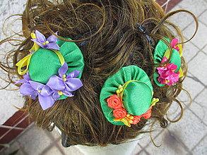 Ozdoby do vlasov - sponka do vlasov s klobúčikom - 10873159_