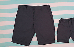 Nohavice - RODINNÉ ROVNAKÉ OBLEČENIE - pánske krátke nohavice - 10873909_