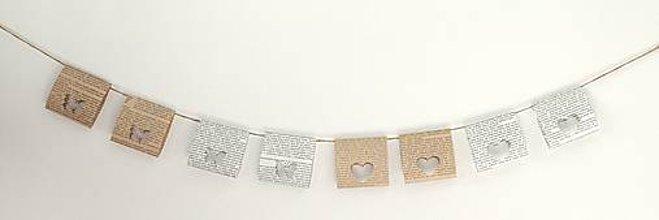 Dekorácie - Závesná dekorácia z papiera na oslavy a svadby (rôzne farby a vzory) - 10872171_