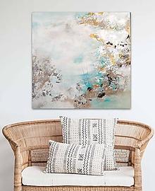 Obrazy - OBRAZ V AKCII, abstraktný obraz na predaj, Jazierko, 80x80 - 10874421_