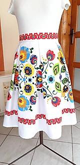 Sukne - Sukňa s florárnym motívom - 10871894_
