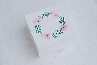 Prstene - Svadobná krabička powder flowers - 10874958_