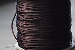 Galantéria - Šnúrka saténová čokoláda 1mm, 0.17€/meter - 10872781_