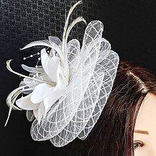 Ozdoby do vlasov - Fascinátor pre nevestu - 10874911_