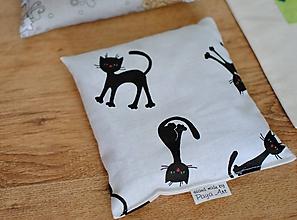 Úžitkový textil - Mačičkový vankúšik - 10873589_
