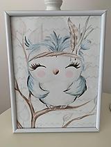 """Detské doplnky - Obraz """"vtáčik"""" - 10876479_"""