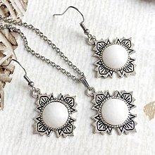 Sady šperkov - Filigree White Jade Jewelry / Šperky s bielym jadeitom /T0004 (Set šperkov) - 10877758_
