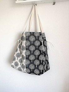 Veľké tašky - Veľká sivo-smotanová letná taška - 10876084_