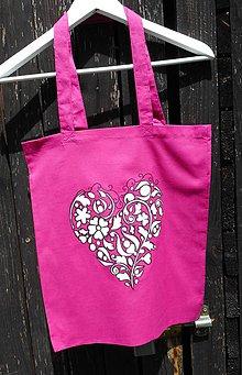 Nákupné tašky - pink-eko taška - 10877450_
