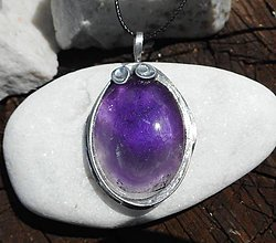 Náhrdelníky - violet ametyst-náramok -darček - 10877510_