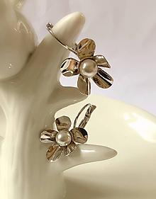Náušnice - Svadobné náušnice kvety - 10877434_