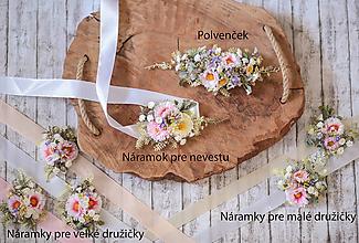 Náramky - Kvetinový náramok pre veľké družičky - 10875021_