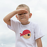 tričko PIRÁT VENDELÍN 86 - 134 (dlhý aj krátky rukáv)