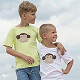 Detské oblečenie - tričko OPICA 86 - 134 (dlhý aj krátky rukáv) - 10877498_