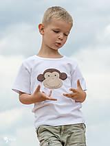 Detské oblečenie - tričko OPICA 86 - 134 (dlhý aj krátky rukáv) - 10877499_