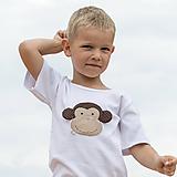Detské oblečenie - tričko OPICA 86 - 134 (dlhý aj krátky rukáv) - 10877500_