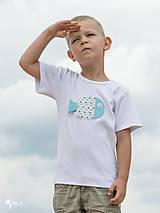 Detské oblečenie - tričko RYBKA TYRKYSOVÁ 86 - 134 (dlhý aj krátky rukáv) - 10877684_