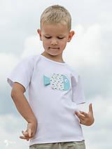 Detské oblečenie - tričko RYBKA TYRKYSOVÁ 86 - 134 (dlhý aj krátky rukáv) - 10877688_