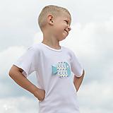 Detské oblečenie - tričko RYBKA TYRKYSOVÁ 86 - 134 (dlhý aj krátky rukáv) - 10877691_