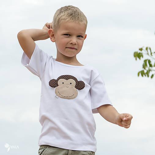 tričko OPICA 86 - 134 (dlhý aj krátky rukáv)