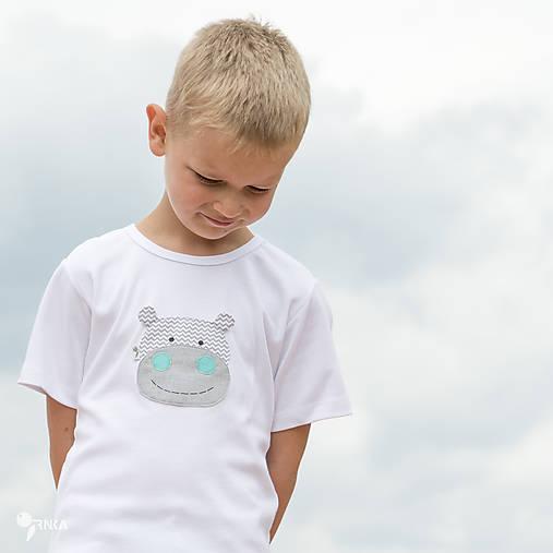 tričko HROCH SIVÝ 86 - 134 (dlhý aj krátky rukáv)