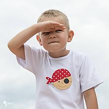Detské oblečenie - tričko PIRÁT VENDELÍN 86 - 134 (dlhý aj krátky rukáv) - 10876990_