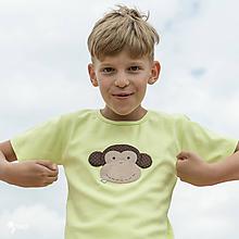 Detské oblečenie - tričko limetkové OPICA 86 - 134 (dlhý aj krátky rukáv) - 10877623_