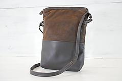 Veľké tašky - Kožená kabelka - Eli - 10877106_