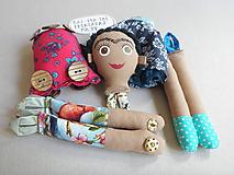 Hračky - Frida Kahlo - gombíková bábika - 10876962_
