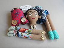 Hračky - Frida Kahlo - gombíková bábika - 10876967_
