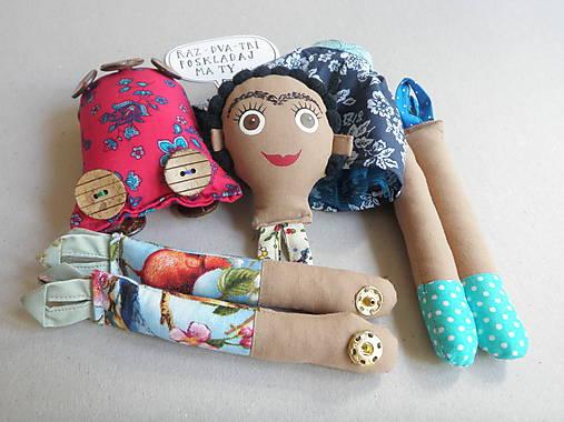 Frida Kahlo - gombíková bábika