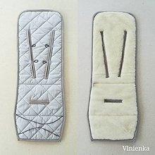 Textil - VLNIENKA podložka do kočíka THULE 100% MERINO wool GREY - 10878401_