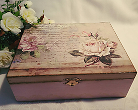 Krabičky - Šperkovnica vo vintage štýle - 10877094_