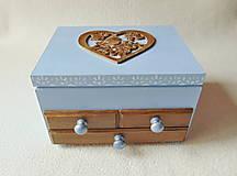 Krabičky - Šperkovnica so zrkadlom Štebotalo vtáča - 10877167_